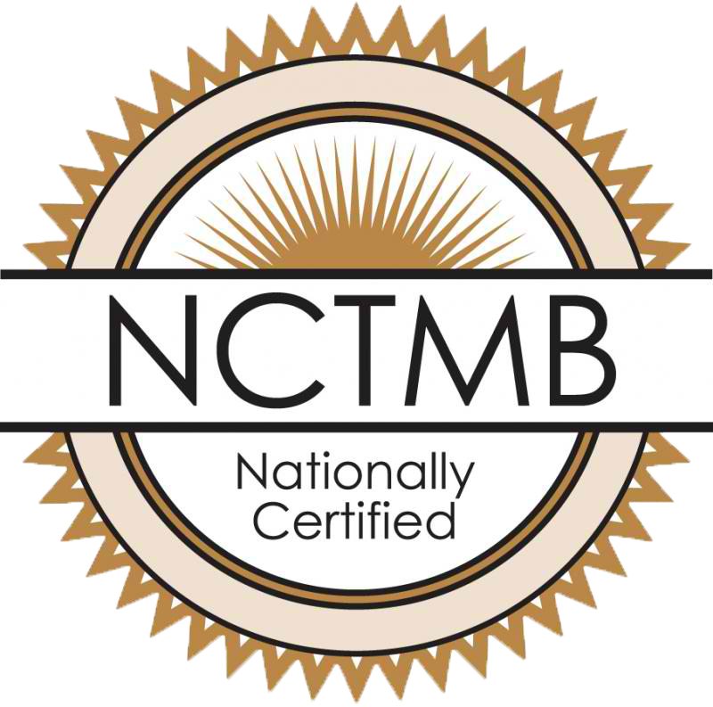 NATIONAL CERTIFICATION BOARD FOR THERAPEUTIC MASSAGE AND BODYWORK - we are certified! icon